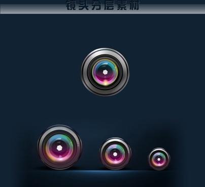lens layered psd
