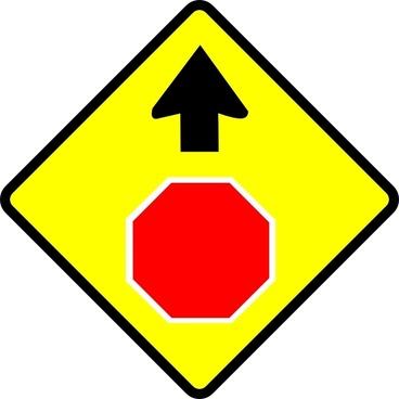Leomarc Caution Stop Sign clip art