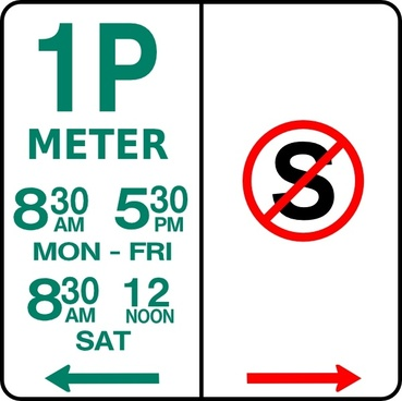 Leomarc Sign Parking And No Standing clip art