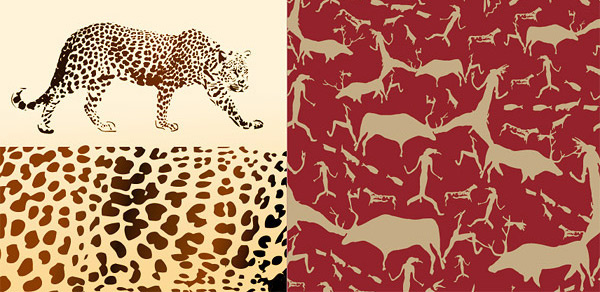 leopard and animal background vector graphic