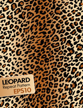 leopard repeat pattern vector