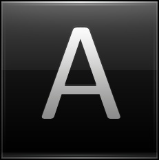 Letter A black