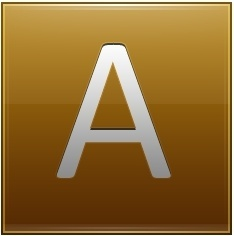 Letter A gold