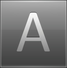 Letter A grey