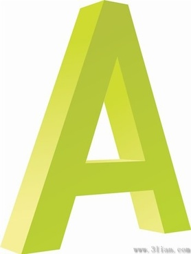 letter a icon vector