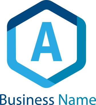 letter a logo template design