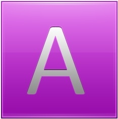 Letter A pink