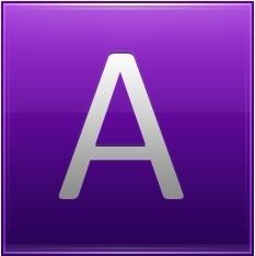 Letter A violet