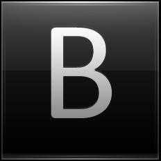 Letter B black