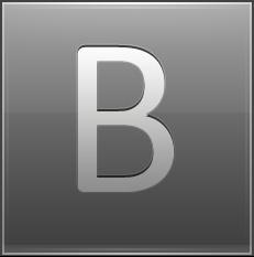 Letter B grey