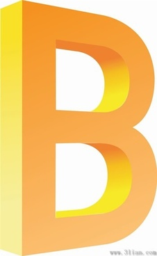 letter b icons vector