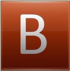 Letter B orange