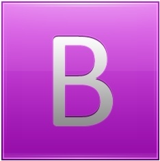 Letter B pink