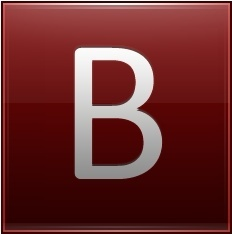 Letter B red