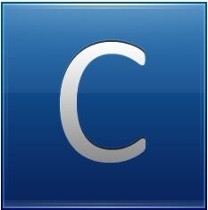 Letter C blue