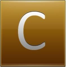 Letter C gold