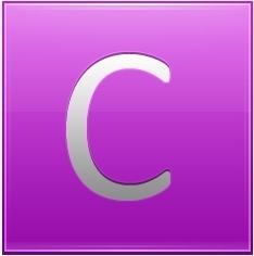 Letter C pink