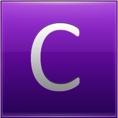 Letter C violet