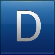 Letter D blue