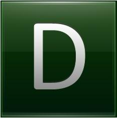 Letter D dg