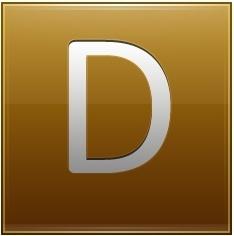 Letter D gold