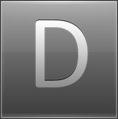 Letter D grey