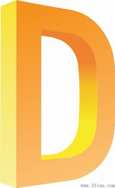 letter d icons vector