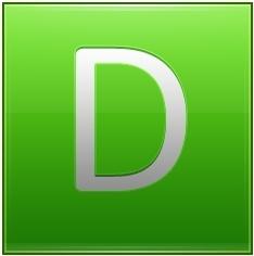 Letter D lg