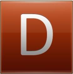 Letter D orange