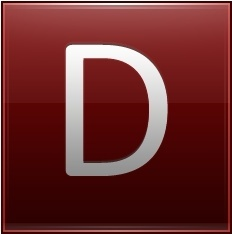 Letter D red