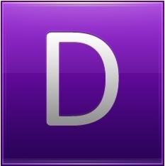Letter D violet