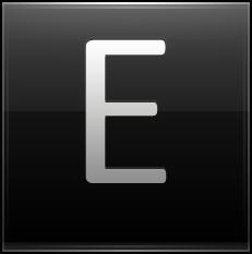 Letter E black