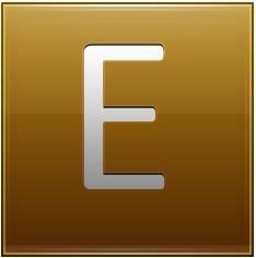 Letter E gold