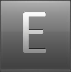 Letter E grey