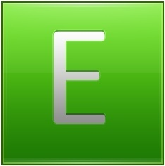 Letter E lg