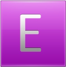 Letter E pink