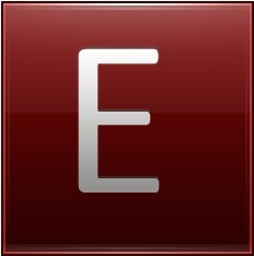 Letter E red