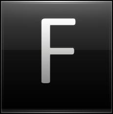 Letter F black