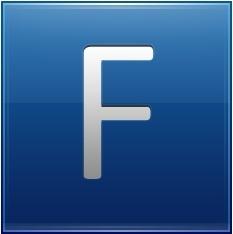 Letter F blue