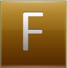 Letter F gold