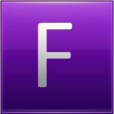 Letter F violet