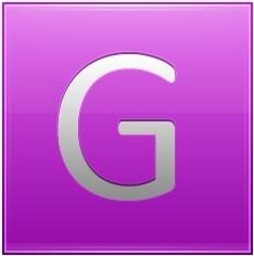 Letter G pink