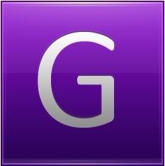Letter G violet
