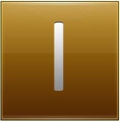Letter I gold