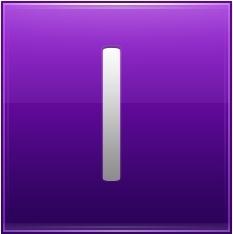 Letter I violet