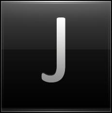 Letter J black