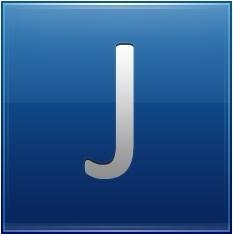 Letter J blue