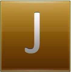 Letter J gold