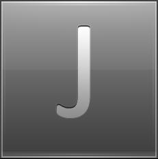 Letter J grey