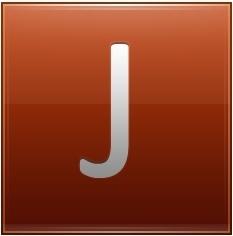 Letter J orange